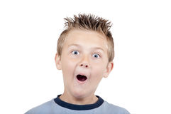 Crazy grimacing child Stock Photos