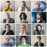 Crazy group of expressions. A crazy group of expressions stock image