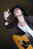 Crazy Guitar man musician Royalty Free Stock Photo