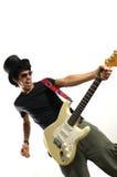 crazy guitar musician Στοκ φωτογραφίες με δικαίωμα ελεύθερης χρήσης