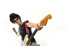 Crazy guitarist Stock Photos