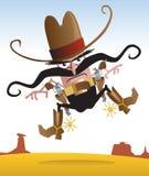Crazy Gunslinger Royalty Free Stock Photo