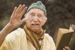 Crazy guru in the desert Stock Photography