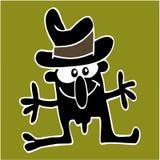 Crazy Guy. Cartoon and vector illustration stock illustration
