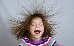 Crazy Hair Royalty Free Stock Images