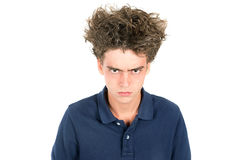 Crazy hair boy Stock Images