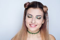 Crazy hair style royalty free stock image