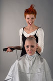 Crazy hairdresser Stock Image