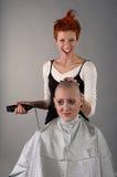 Crazy hairdresser Stock Image