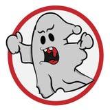 Crazy Halloween ghost royalty free illustration