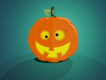 Crazy halloween pumpkin Royalty Free Stock Images