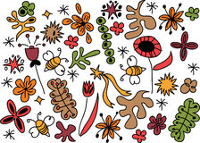 Crazy hand draw nature background Stock Images