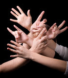 Crazy hands Royalty Free Stock Photography