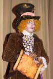 Crazy hatter from Alice in Wonderland. Theatre performance Dnipropetrovsk, May 2014 royalty free stock photography