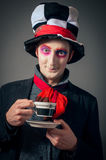 Crazy Hatter Stock Photo