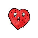 crazy heart cartoon character Stock Photography