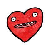 crazy heart cartoon character Stock Image