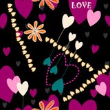 Crazy heart pattern Stock Image