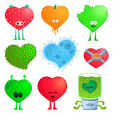 Crazy hearts Stock Images