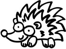Crazy hedgehog Stock Images