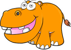 Crazy hippopotamus Vector Royalty Free Stock Photo