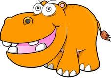 Crazy hippopotamus Vector Royalty Free Stock Photo