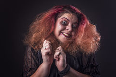 Crazy horror woman screaming Stock Photo