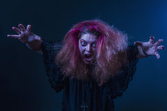 Crazy horror woman screaming Royalty Free Stock Photo