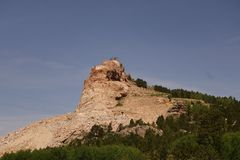 Crazy horse me memorial back side Royalty Free Stock Photos