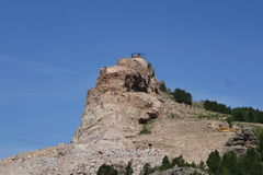 Crazy Horse Memorial looking at the back side Stock Photo