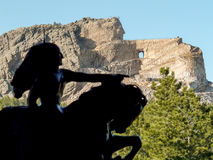 Crazy Horse - model and memorial Royalty Free Stock Photos