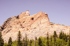 The Crazy Horse Monument Overlooks the Black Hills of South Dakota, USA Royalty Free Stock Image