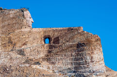 Crazy horse monument under construction in the black hills of So Royalty Free Stock Image