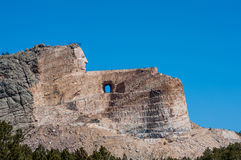 Crazy horse monument under construction in the black hills Stock Photos