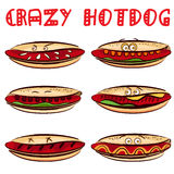 Crazy hotdog Royalty Free Stock Photography
