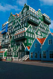 Remarkable hotel. 05/07/2012 Zaandam, Netherlands. Hotel Inntel is one of the most remarkable buildings built in the Netherlands in the last decade. The facade Royalty Free Stock Image