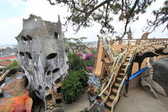 Crazy House in Da Lat , Vietnam Royalty Free Stock Photography