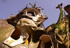 The crazy house in Dalat in Vietnam. A detail of the eccentric crazy house in Dalat in Vietnam Stock Photography
