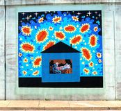 Crazy House Mural On James Road in Memphis, Tennessee. Royalty Free Stock Photos
