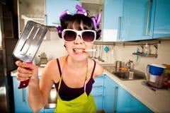 Crazy housewife stock photos