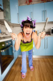 Crazy housewife stock images