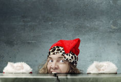 Crazy hungry Santa Stock Photos