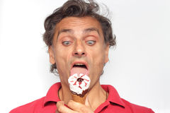 Crazy for ice cream Royalty Free Stock Image