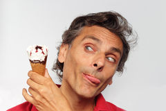 Crazy for ice cream Royalty Free Stock Photography