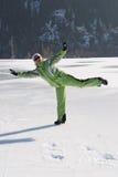 Crazy ice skating Royalty Free Stock Image
