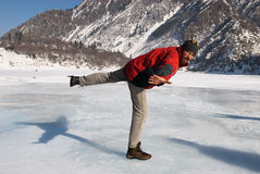 Crazy ice skating Royalty Free Stock Photography