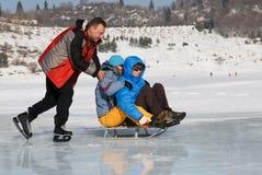 Crazy ice skating Royalty Free Stock Photo