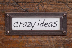 Crazy ideas - file cabinet label Stock Images