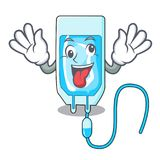 Crazy infussion bottle mascot cartoon stock illustration