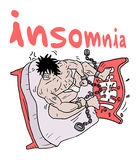 Crazy insomnia illustration Royalty Free Stock Photos